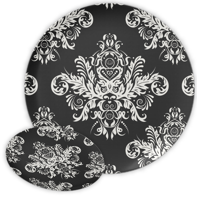 Black u0026 White Elegant Melamine Plate  sc 1 st  CHIClicious Designs & Plates Archives - CHIClicious Designs