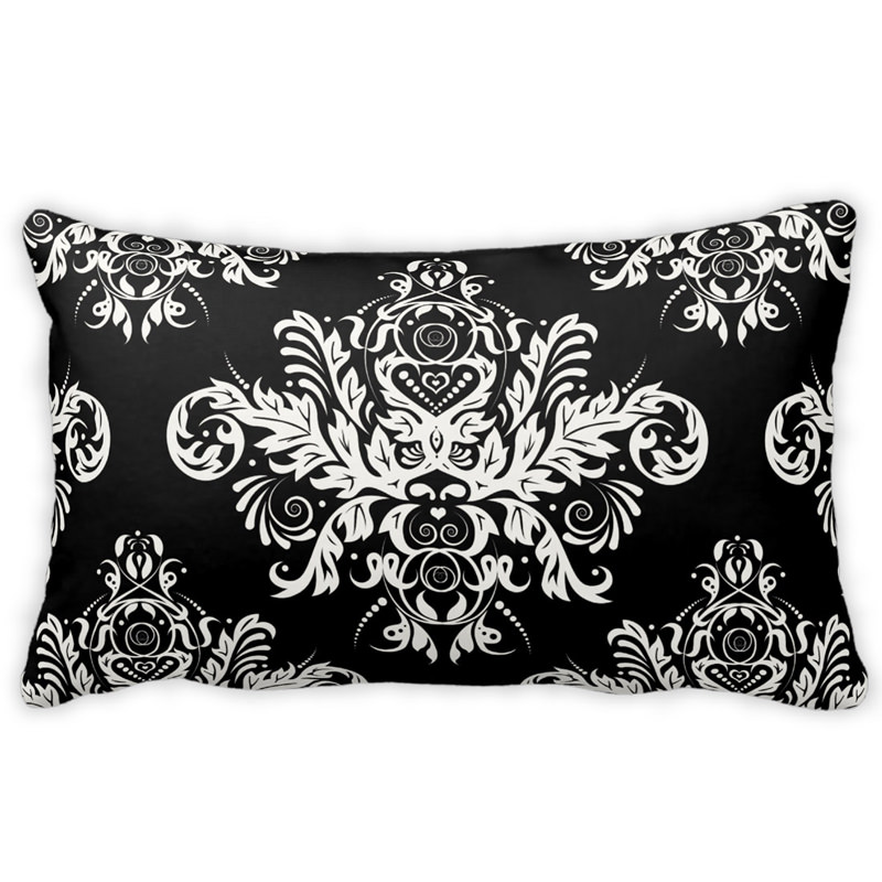 Black & White Elegant Throw Pillow CHIClicious Designs