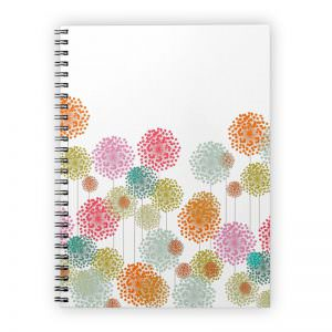 Colorful fluffies spiral notebook journal