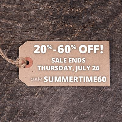 Huge Sale - 20-60 Percent Off