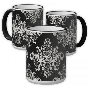 Black & White Elegant 15oz. Ringer Mug