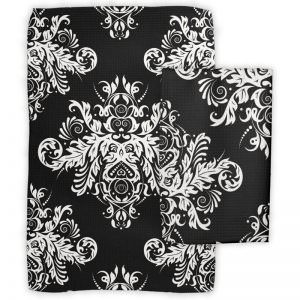 Black & White Elegant Dish Towels