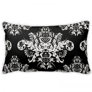 Black & White Elegant Throw Pillow