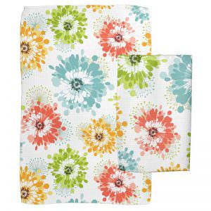 Colorful Poppies Dish Towels