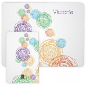 Personalized Pocket Sized Scribble Circles Journal