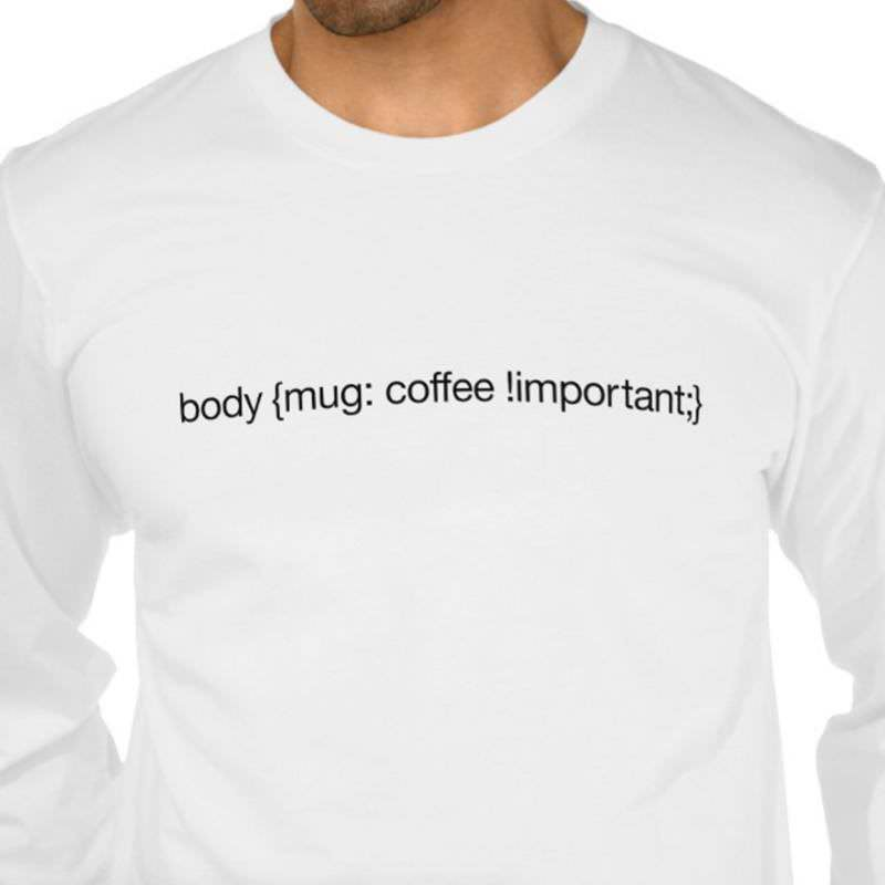 Body Coffee Important T-Shirt