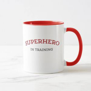 SUPERHERO in TRAINING Ringer Jumbo Coffee Mug