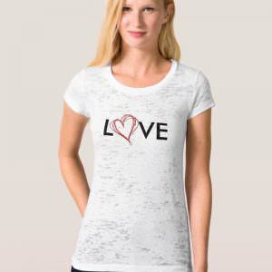 LOVE Scribble Heart Tee